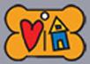 Senior Dog Rescue of Oregon (Corvallis, Oregon) | logo of bone, dog tag, red heart, blue house, yellow roof