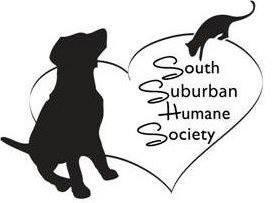 South Suburban Humane Society (Chicago Heights, Illinois)   logo of heart, black dog, black cat, 50 years, 1970 – 2020