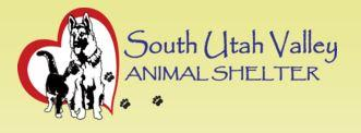 South Utah Valley Animal Shelter (Spanish Fork, Utah) | logo of red heart, dog, cat, paw print, South Utah Valley Animal Shelter