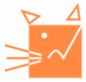 Southern WV Animal League (Princeton, West Virginia) | logo of orange square, cat head, ears, whiskers, eyes