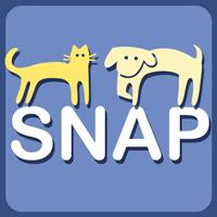 Spay & Neuter Action Program SNAP (Las Cruces, New Mexico) | logo of yellow cat, dog, blue text SNAP Spay Neuter Action Program