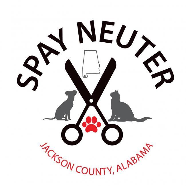 Spay Neuter Jackson County Alabama (Scottsboro, Alabama) logo scissors dog cat alabama outline