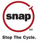 Spay-Neuter Assistance Program (Houston, Texas)   logo of red circle, snap tag, black text SNAP