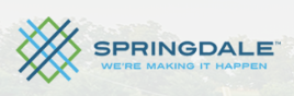 Springdale Animal Services (Springdale, Arkansas) diamond and lines logo with city name
