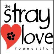 Stray Love Foundation (Magnolia Springs, Alabama) logo is a black pawprint inside a red heart next to the organization name