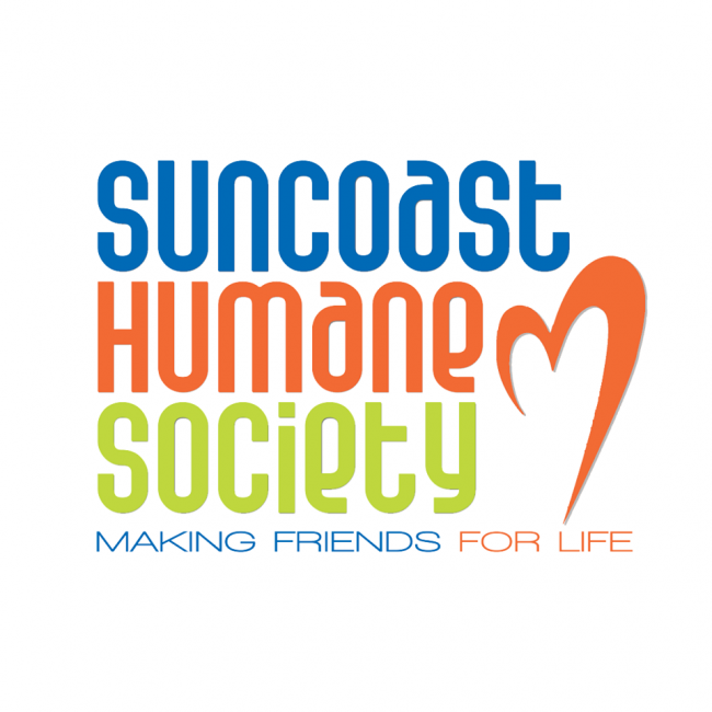 Suncoast Humane Society (Englewood, Florida) logo heart making friends for life