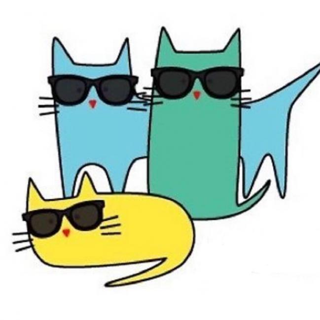 TT's Rescue Squad (Taylor, Pennsylvania) logo with three cats in sunglasses