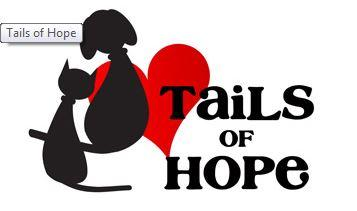 Tails of Hope (Oakhurst, New Jersey) | logo of black dog, black cat, red heart, text Tails of Hope