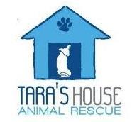 Tara's House Animal Rescue (Townson, Maryland) | logo of blue dog house, paw print, white dog, text Tara's House Animal Rescue