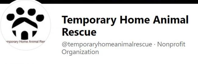 Temporary Home Animal Rescue Inc. (Casper, Wyoming) logo circle house paw print with black text