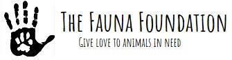 The Fauna Foundation (Malibu, California) logo pawprint on human hand
