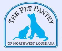 The Pet Pantry of Northwest Louisiana, Bossier City, Louisiana, log Blue dog and cat on white with blue text in a frame