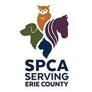 The SPCA Serving Erie County (West Seneca, New York) logo dog cat horse and owl
