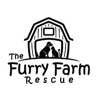 The Furry Farm Rescue (Rathdrum, Idaho)   logo of farmhouse, barn, black cat, black dog, The Furry Farm Rescue