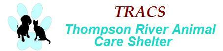 Thompson River Animal Care Shelter (Thompson Falls, Montana)   logo of blue paw print, black dog, black cat, TRACS