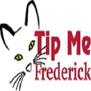Tip Me Frederick (Walkersville, Maryland) logo is a partial drawing of a cat face with green eyes next to the organization name