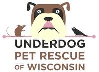 Underdog Pet Rescue of Wisconsin (Madison, Wisconsin) | logo of dog, tongue out, bird, mouse, Underdog Pet Rescue of Wisconsin