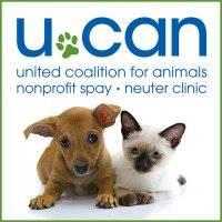 United Coalition For Animals (UCAN) (Cincinnati, Ohio)   logo of puppy and kitten UCAN green paw print nonprofit spay neuter