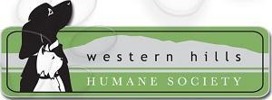 Western Hills Humane Society (Spearfish, South Dakota)   logo of black dog, white dog, grey hills, green background
