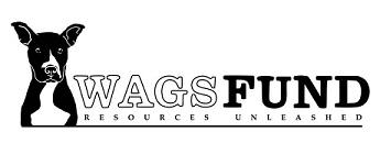 WAGS Fund (Houston, Texas)   logo of black and white dog, WAGS Fund, resources unleashed