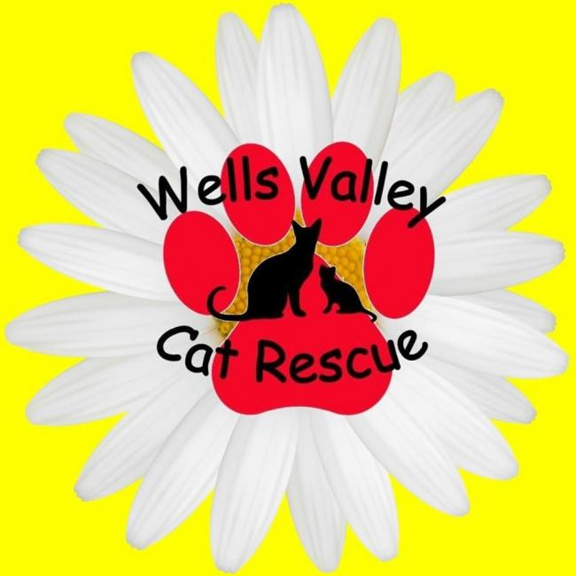 Wells Valley Cat Rescue (New Milford, Connecticut) logo cats in pawprint flower