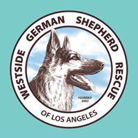 Westside German Shepherd Rescue NKLA (Los Angeles, California) | logo of blue circle, Westside German Shepherd Rescue of LA