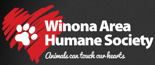 Winona Area Humane Society (Winona, Minnesota) | logo of Winona Area Humane Society text with red heart and white paw