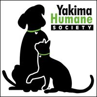 Yakima Humane Society (Yakima, Washington) | logo of black dog, black cat, green collars, text Yakima Humane Society