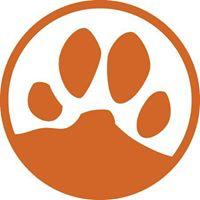 Yavapai Humane Society (Prescott, Arizona) | logo of orange paw print, mountain, blue circle, Yavapai Humane Society