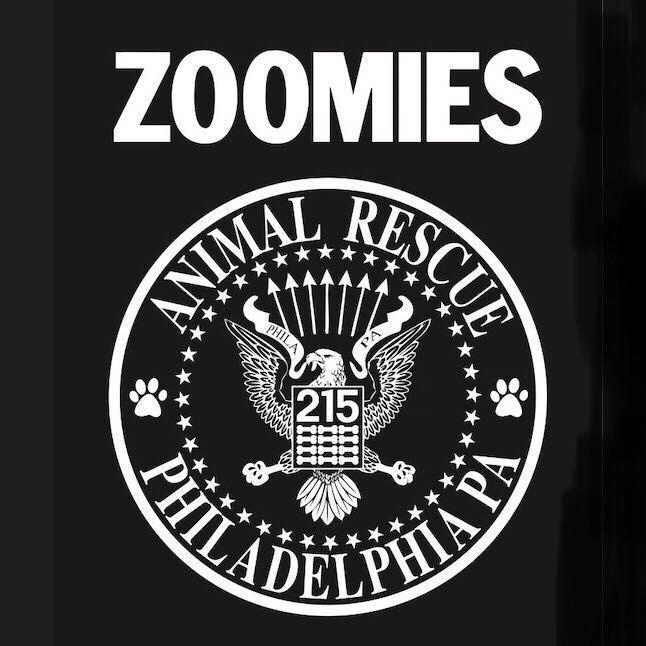 Zoomies Animal Rescue (Philadelphia, Pennsylvania) logo eagle and 215 in circle Animal Rescue Philadelphia