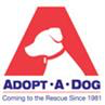 """Adopt-A-Dog logo with dog and tagline """"Coming to the Rescue Since 1981"""""""