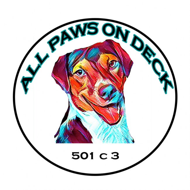 All Paws on Deck (Griswold, Connecticut) logo dog rainbow colors 501c3