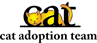 Cat Adoption Team (Sherwood, Oregon) logo with CAT letters and cat cartoon