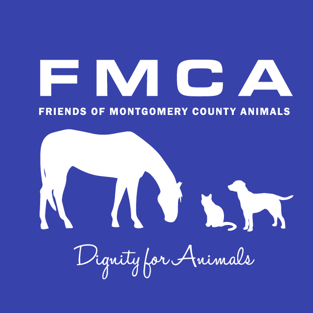 Friends of Montgomery County Animals (Germantown, Maryland) logo with dog, cat, horse