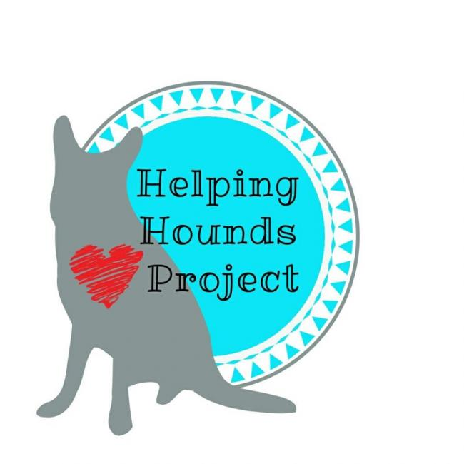 Helping Hounds Project, Inc (Middleburg, Florida) logo with heart on dog in circle