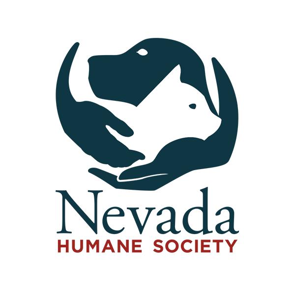 Nevada Humane Society (Reno, Nevada) logo with dog, cat, hands in circle