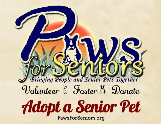 Paws For Seniors (Bealeton, Virginia) logo with dog plants sunshine