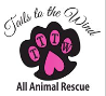 Tails to the Wind All Animal Rescue (NKLA) (Granada Hills, California) logo with initials in pawprint