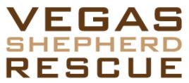 Vegas Shepherd Rescue (Las Vegas, Nevada) logo in brown outline