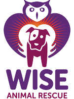 Wise Animal Rescue (Lake Hiawatha, New Jersey)   logo of purple dog, purple owl with wings, text WISE animal rescue